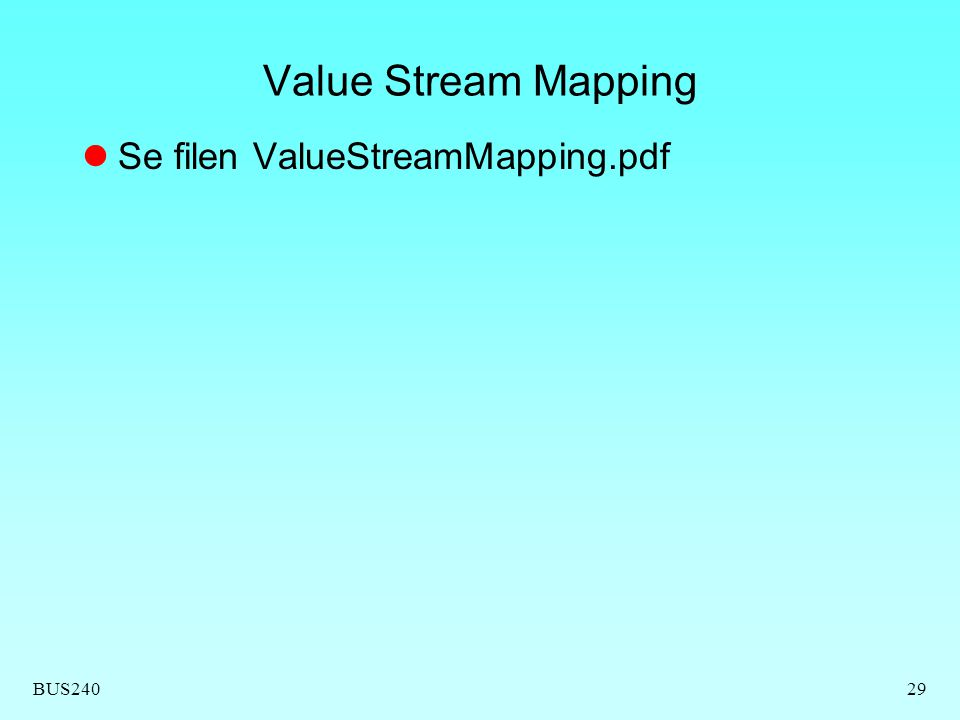 Value Stream Mapping Se filen ValueStreamMapping.pdf