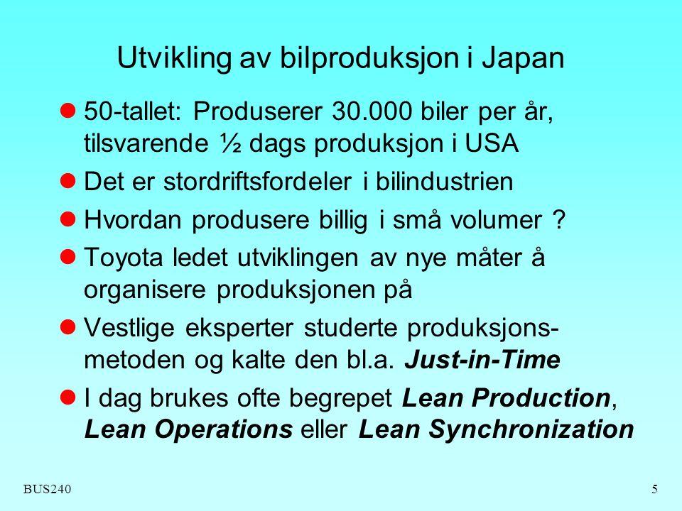 Utvikling av bilproduksjon i Japan