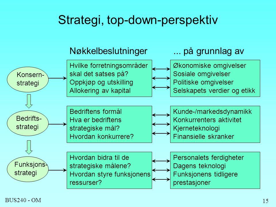 Strategi, top-down-perspektiv