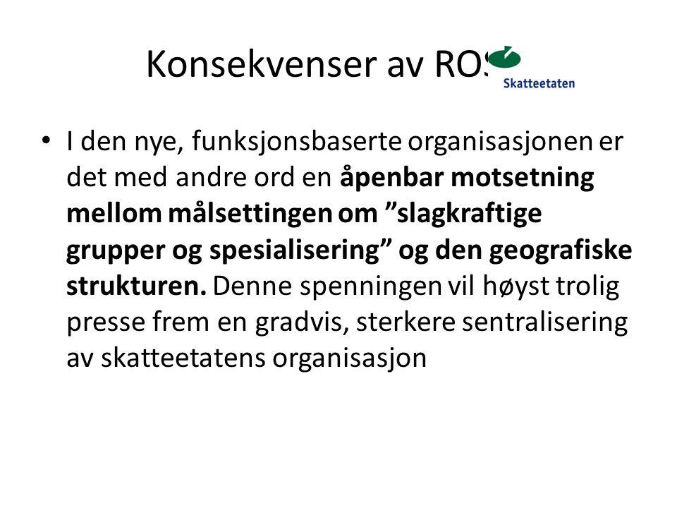 Konsekvenser av ROS 5