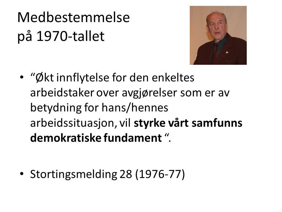 Medbestemmelse på 1970-tallet