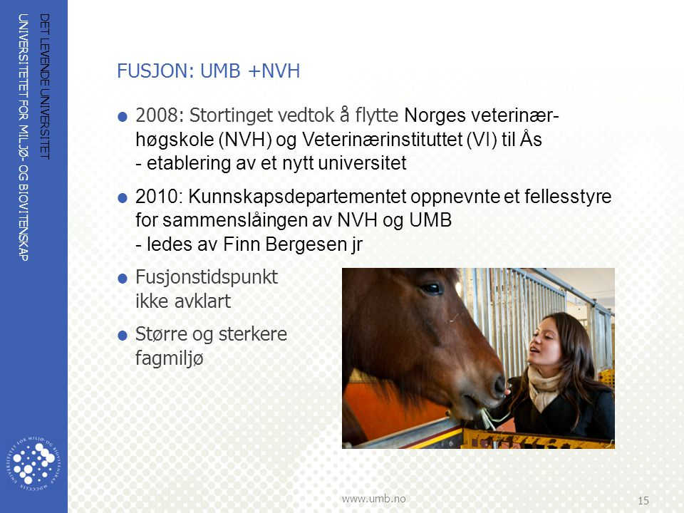 FUSJON: UMB +NVH