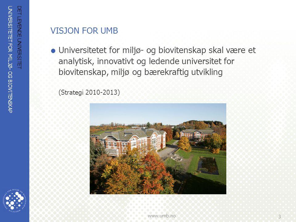 VISJON FOR UMB