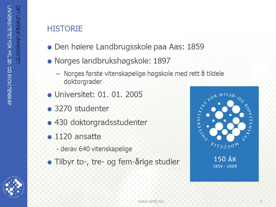 Den høiere Landbrugsskole paa Aas: 1859 Norges landbrukshøgskole: 1897