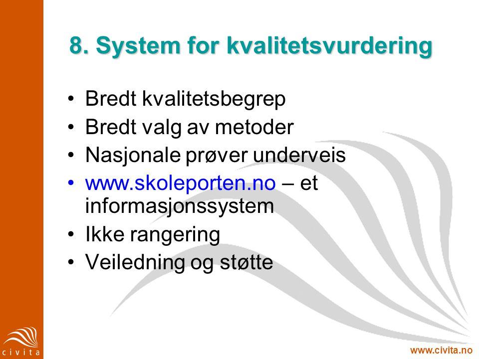 8. System for kvalitetsvurdering