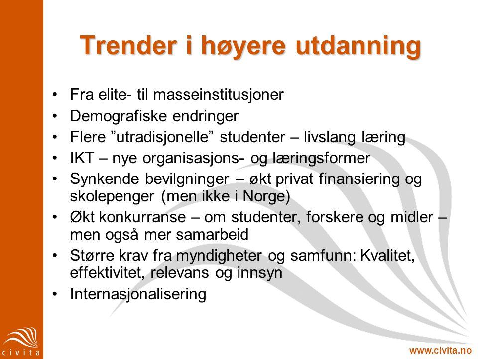 Trender i høyere utdanning