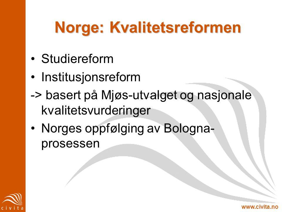 Norge: Kvalitetsreformen