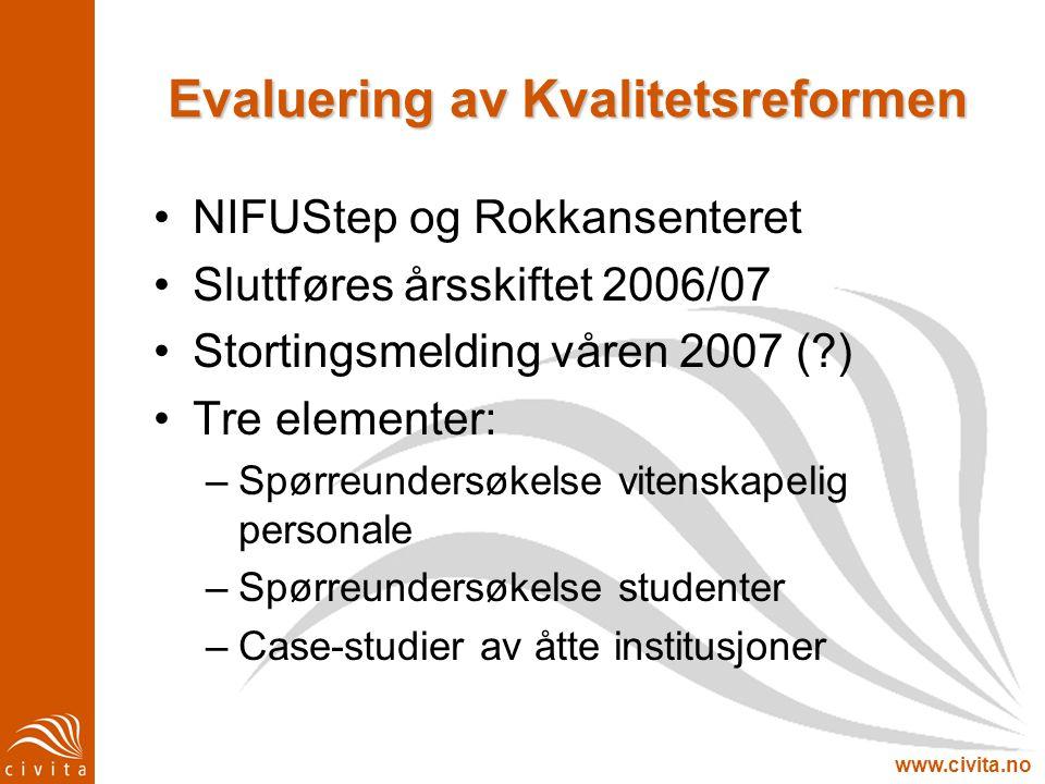 Evaluering av Kvalitetsreformen