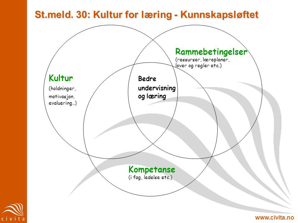 St.meld. 30: Kultur for læring - Kunnskapsløftet