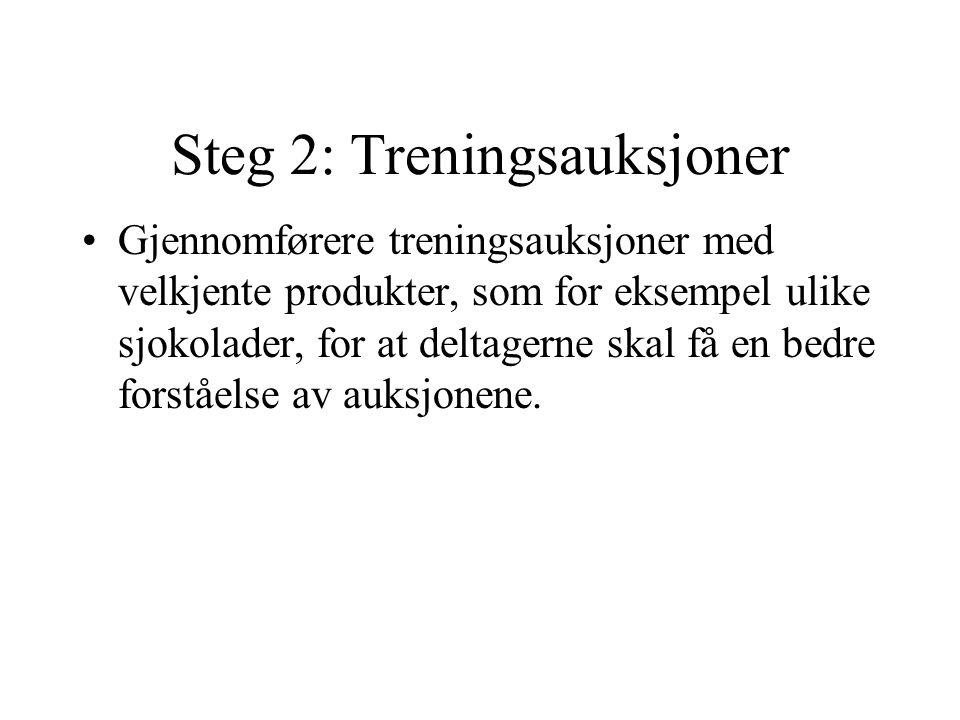 Steg 2: Treningsauksjoner