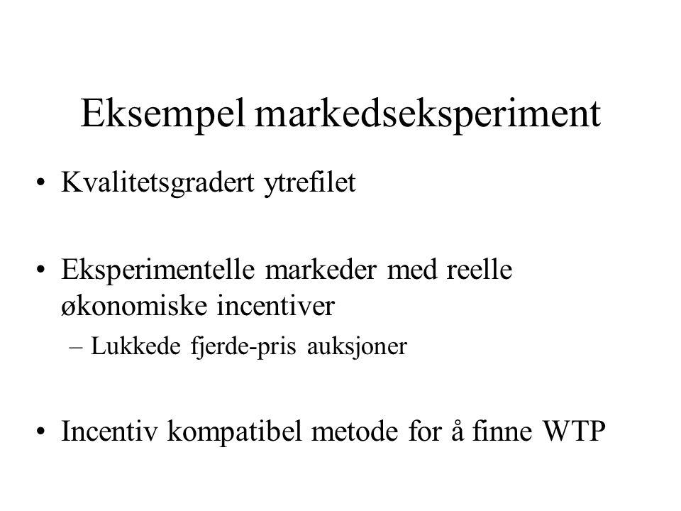Eksempel markedseksperiment