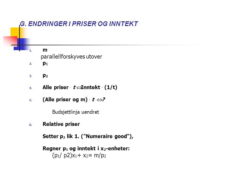 G. ENDRINGER I PRISER OG INNTEKT