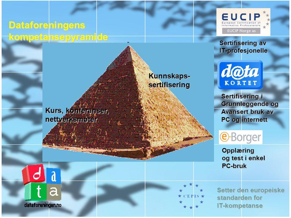Dataforeningens kompetansepyramide Kunnskaps- sertifisering