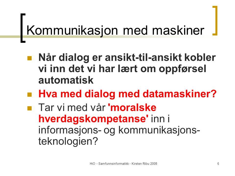 Kommunikasjon med maskiner