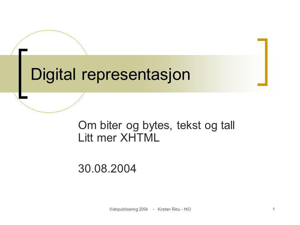 Digital representasjon