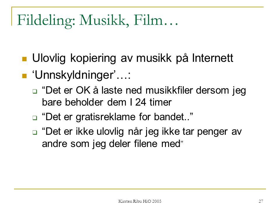 Fildeling: Musikk, Film…