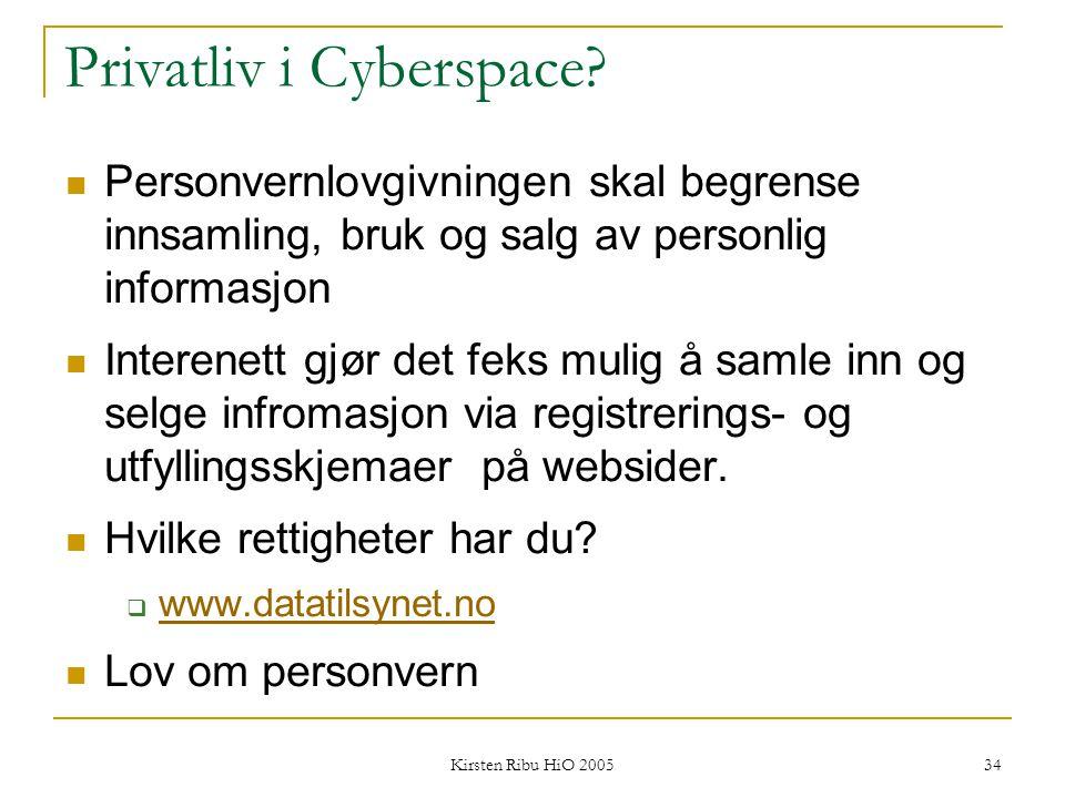 Privatliv i Cyberspace