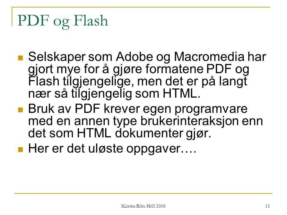 PDF og Flash