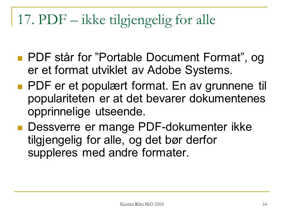 17. PDF – ikke tilgjengelig for alle