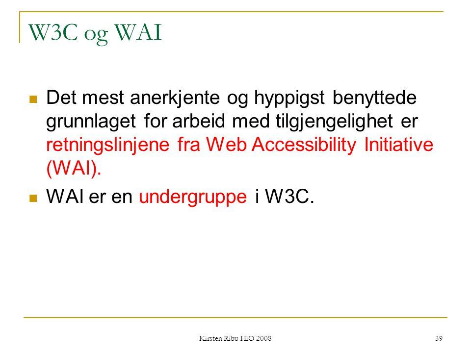 W3C og WAI