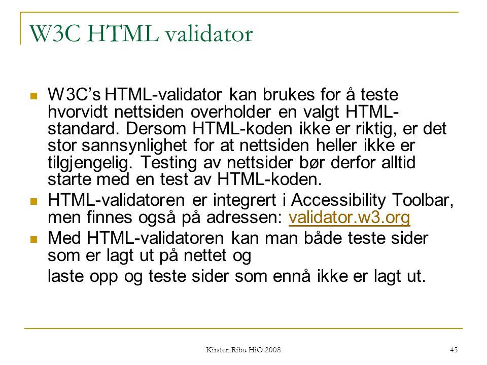 W3C HTML validator