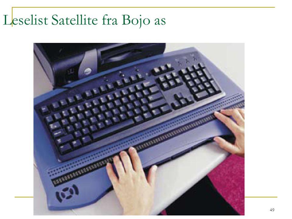 Leselist Satellite fra Bojo as