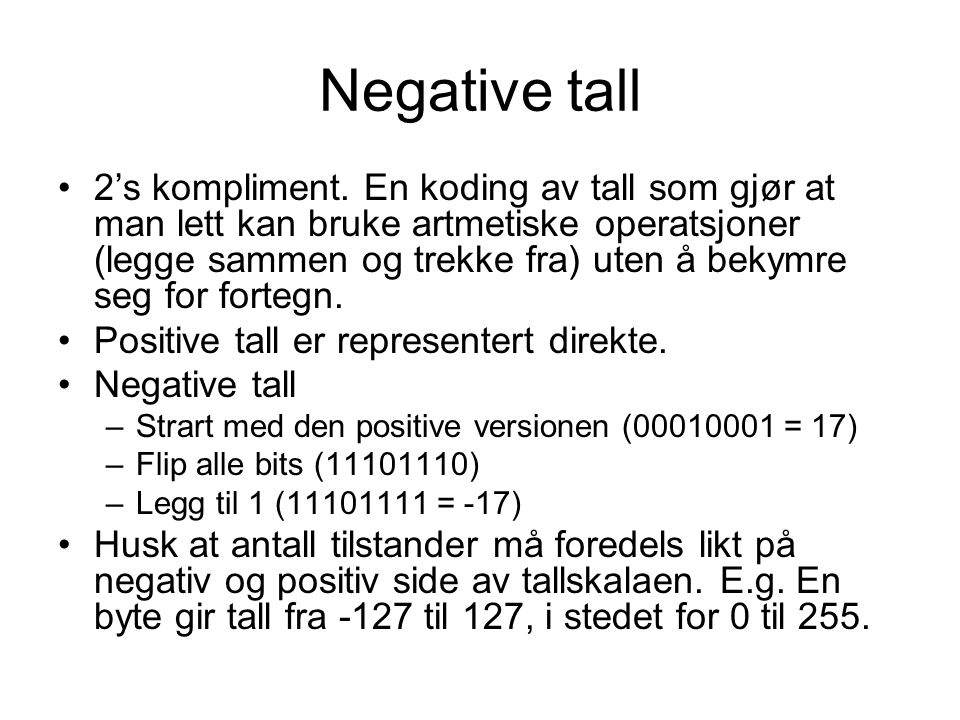 Negative tall