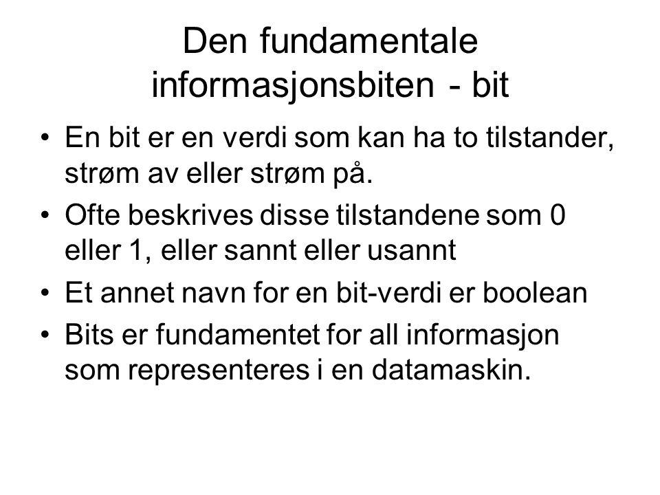 Den fundamentale informasjonsbiten - bit