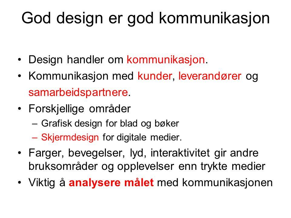 God design er god kommunikasjon