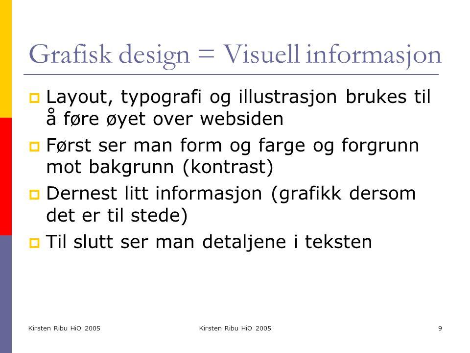 Grafisk design = Visuell informasjon