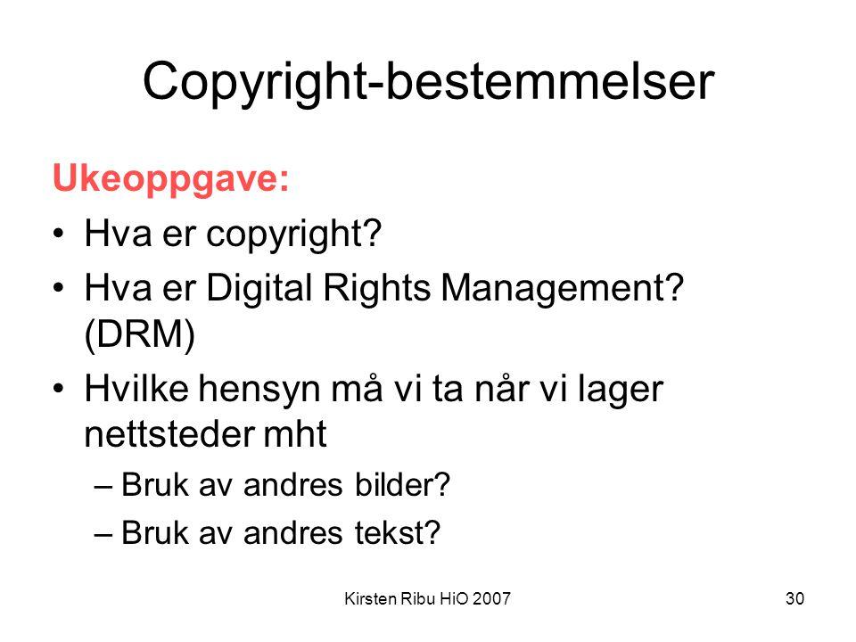 Copyright-bestemmelser