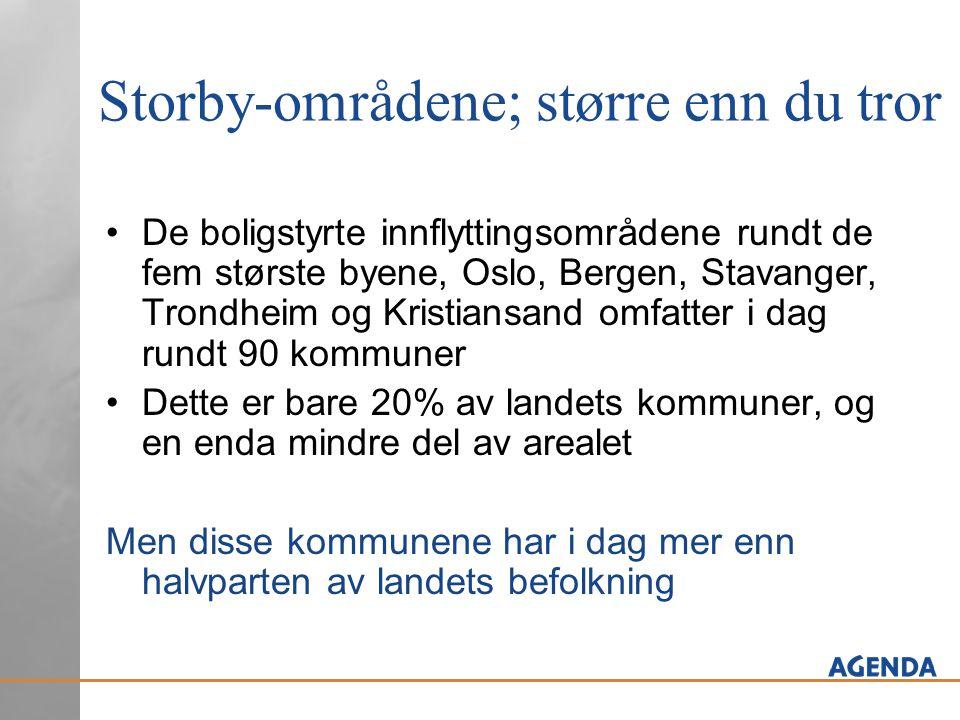 Storby-områdene; større enn du tror