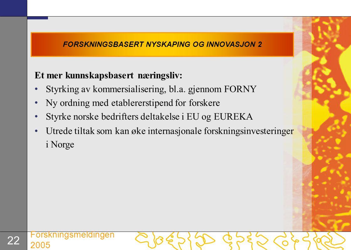 FORSKNINGSBASERT NYSKAPING OG INNOVASJON 2