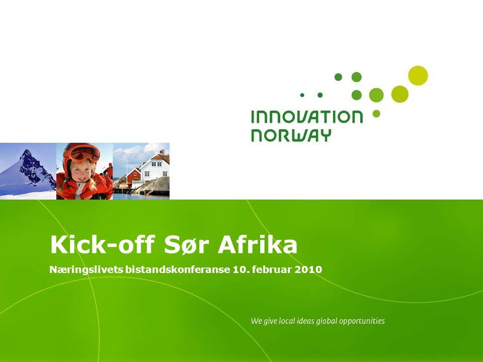 Kick-off Sør Afrika Næringslivets bistandskonferanse 10. februar 2010