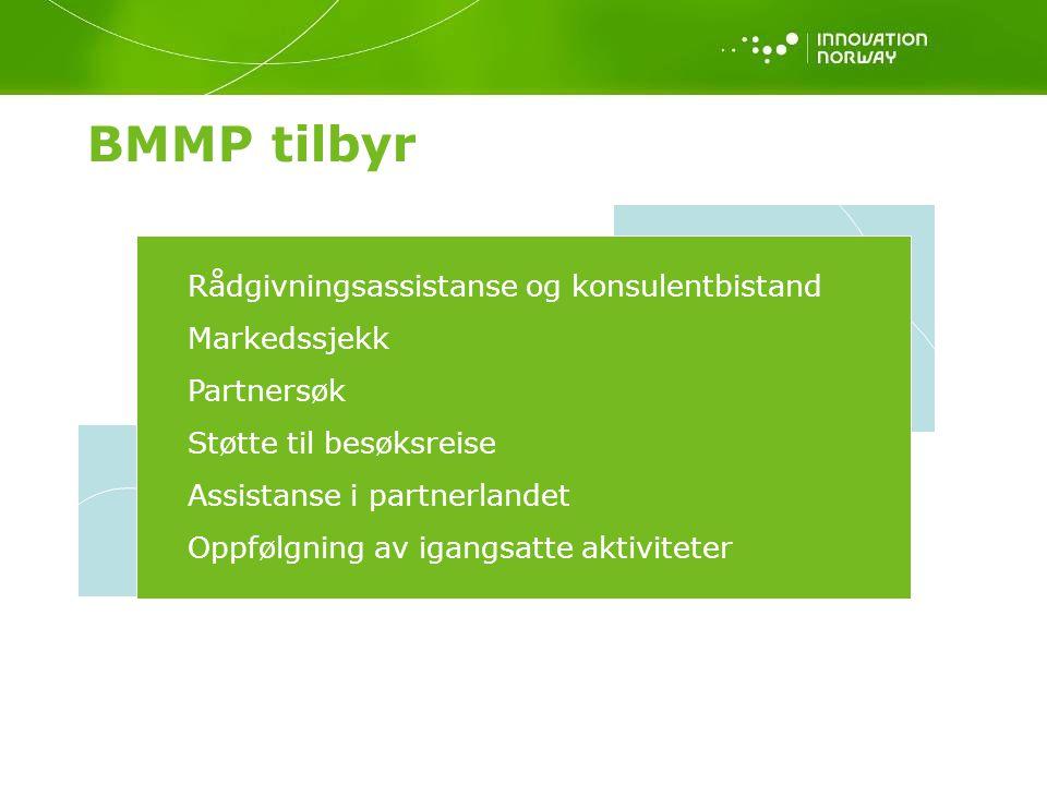 BMMP tilbyr Rådgivningsassistanse og konsulentbistand Markedssjekk