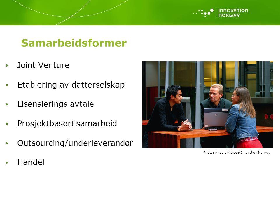 Samarbeidsformer Joint Venture Etablering av datterselskap
