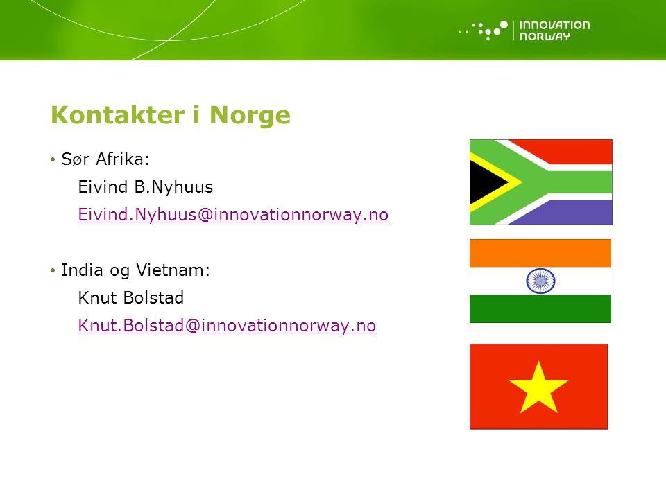 Kontakter i Norge Sør Afrika: Eivind B.Nyhuus