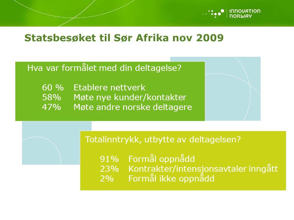 Statsbesøket til Sør Afrika nov 2009