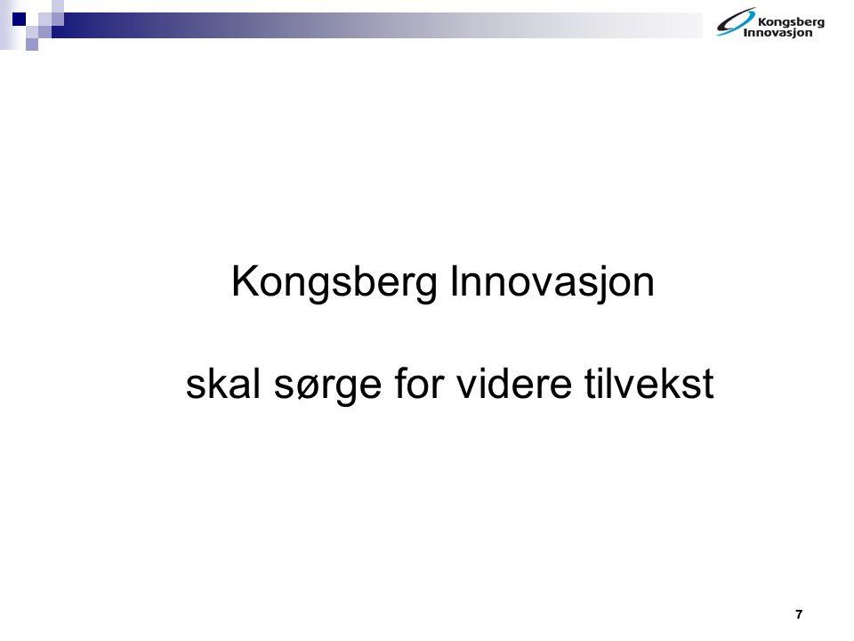 Kongsberg Innovasjon skal sørge for videre tilvekst