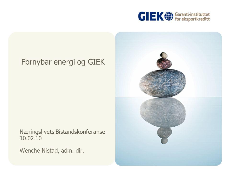 Fornybar energi og GIEK