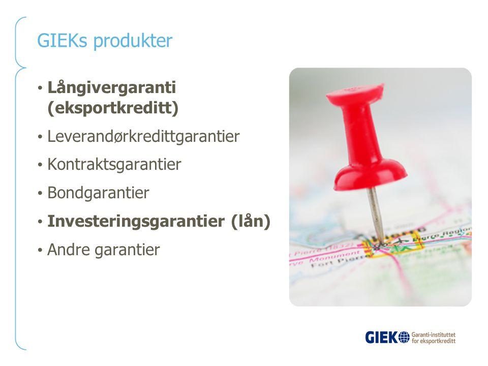 GIEKs produkter Långivergaranti (eksportkreditt)