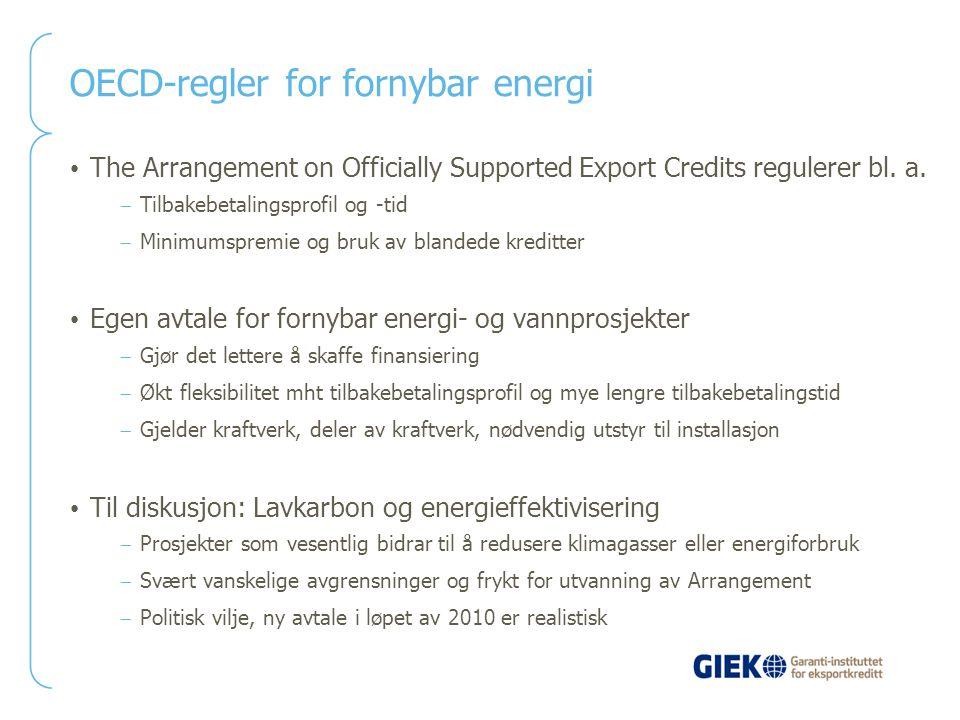 OECD-regler for fornybar energi