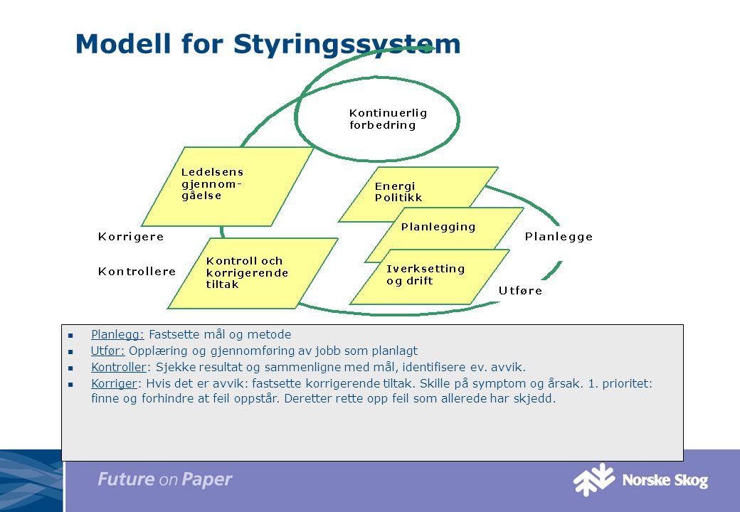 Modell for Styringssystem
