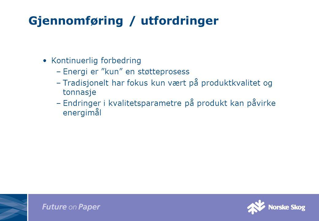 Gjennomføring / utfordringer