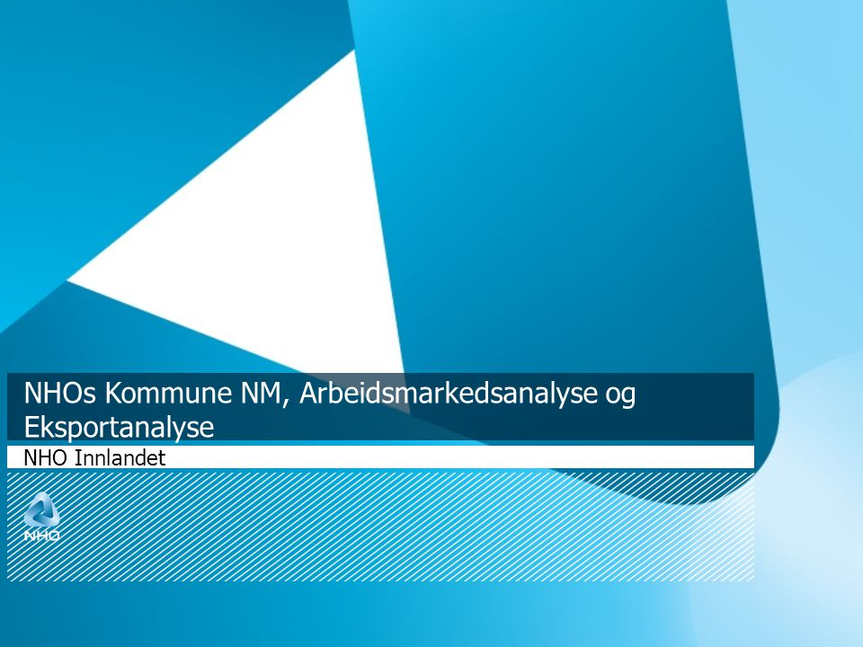 NHOs Kommune NM, Arbeidsmarkedsanalyse og Eksportanalyse