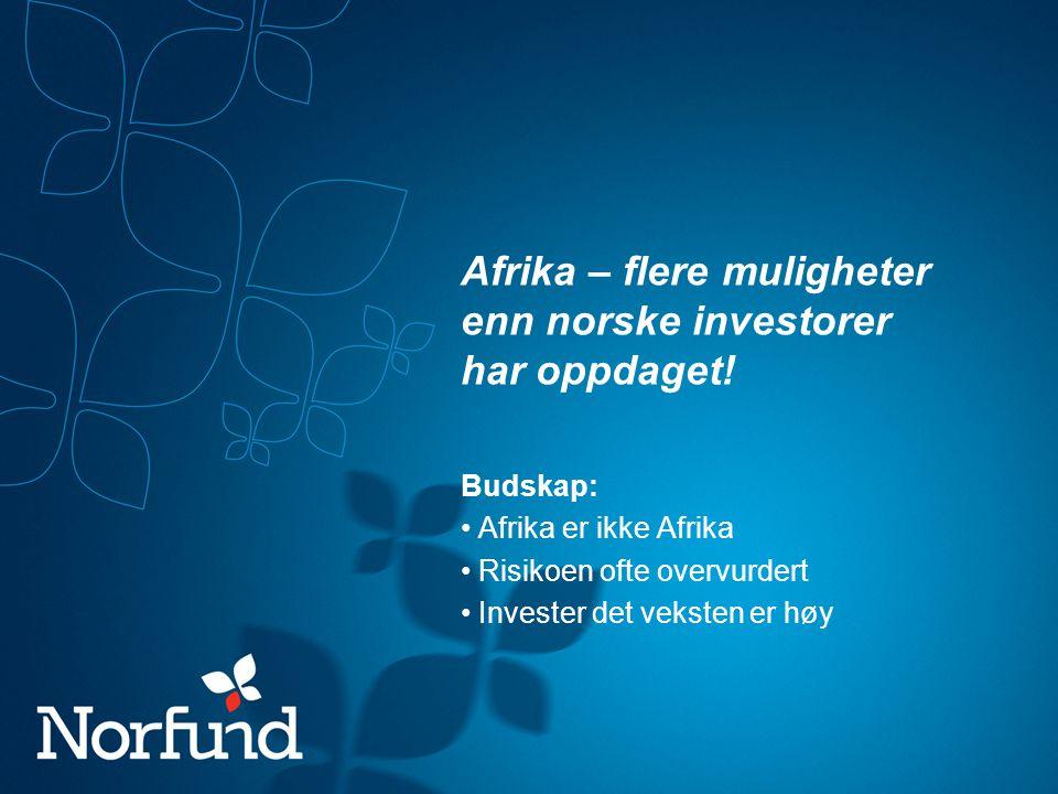 Afrika – flere muligheter enn norske investorer har oppdaget!