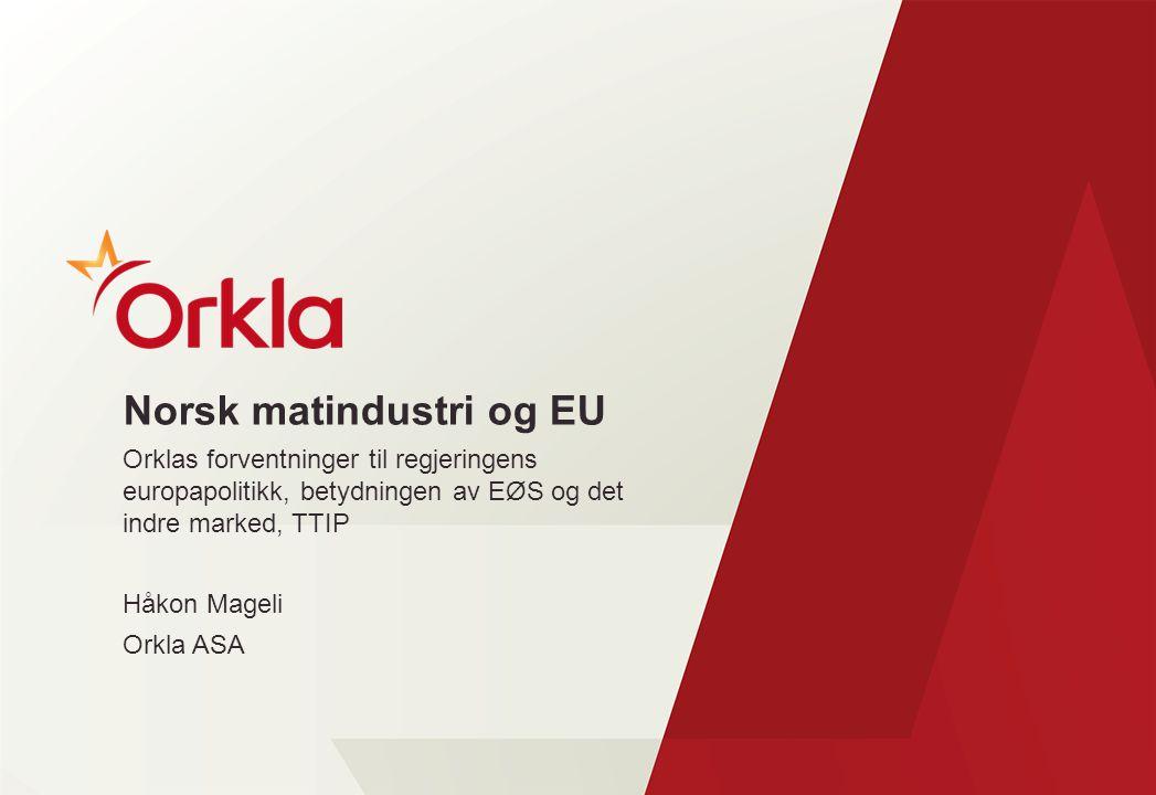 Norsk matindustri og EU