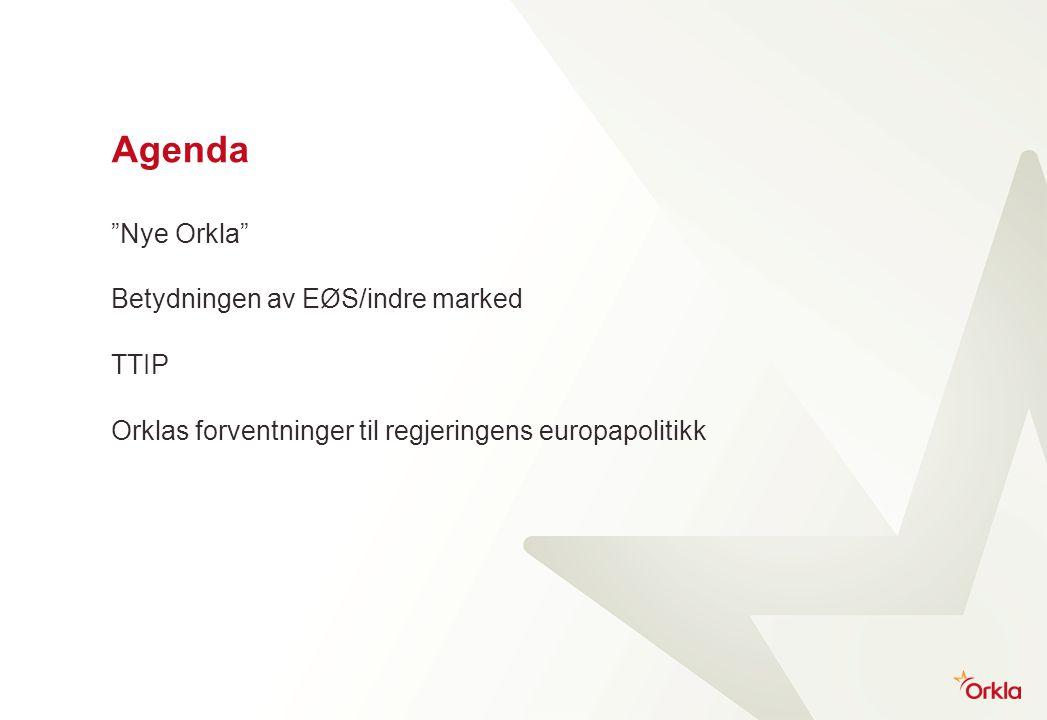 Agenda Nye Orkla Betydningen av EØS/indre marked TTIP