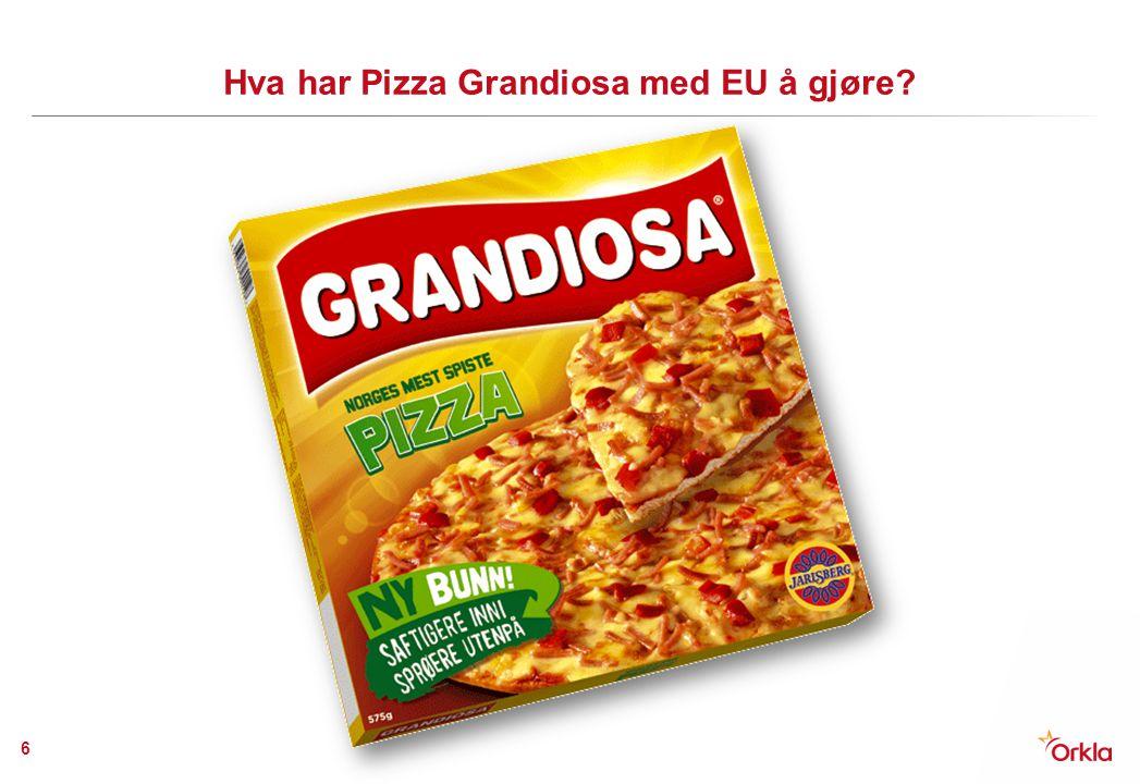 Hva har Pizza Grandiosa med EU å gjøre