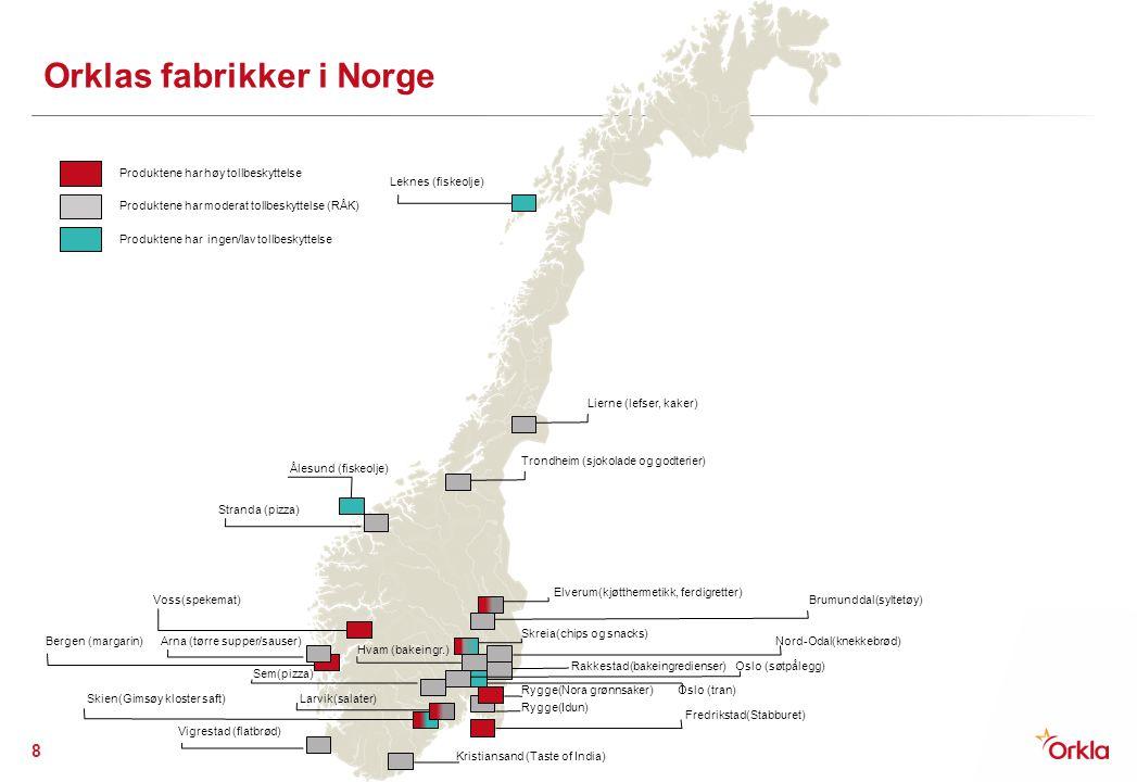 Orklas fabrikker i Norge